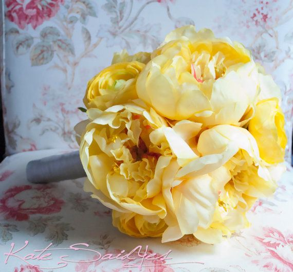 #yellow #peony and ranunculus