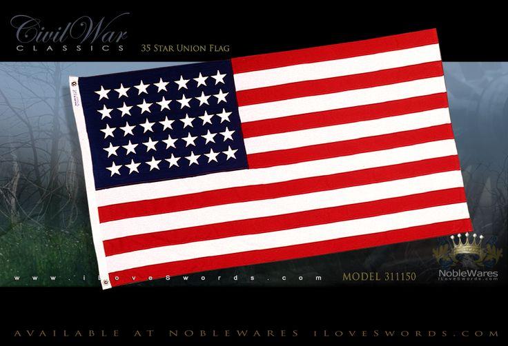 Civil War Flags NobleWares • iLoveSwords.com | Union 35 Star Civil War 3'x5' Nylon Flag 311150 by Annin USA