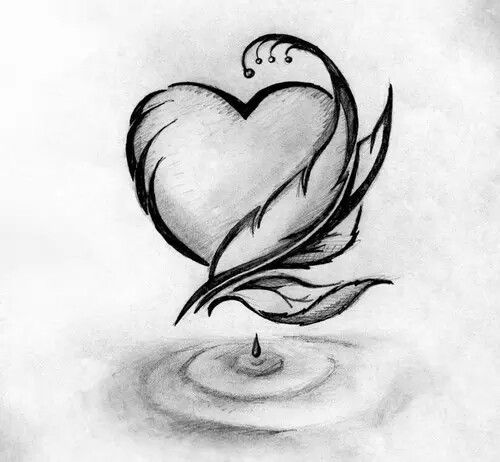 Valentines and hearts | Cool pencil drawings, Abstract ...