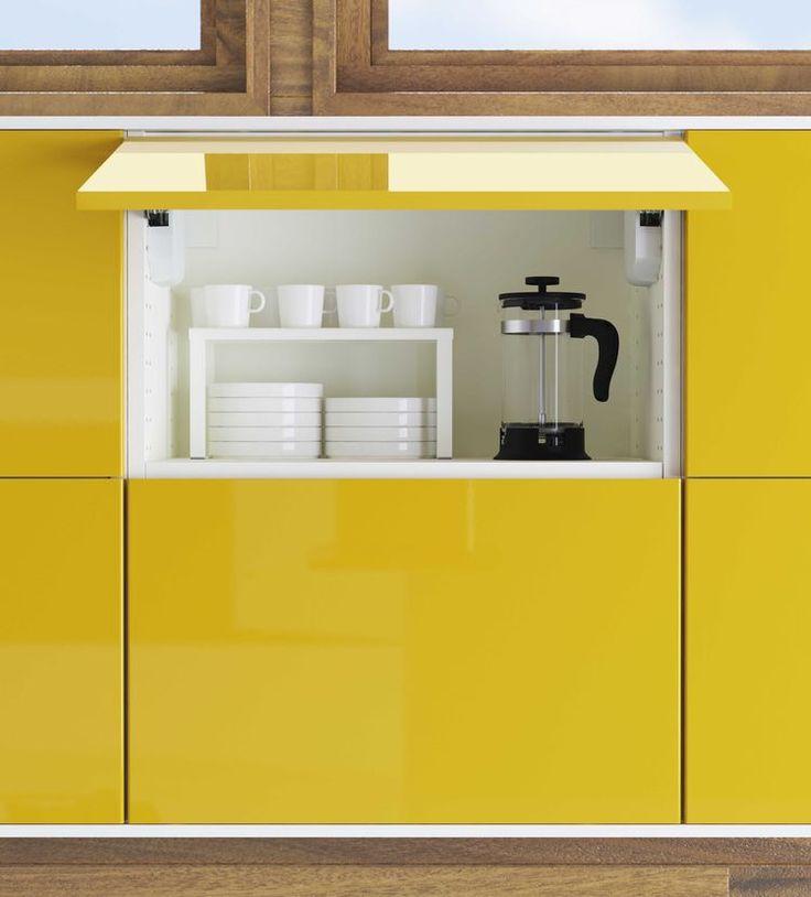 Nuevos gabinetes de cocina de IKEA en amarillo