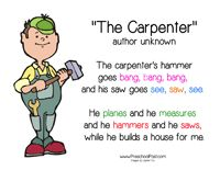 Community Helpers on Math Worksheets For Carpenters