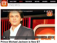 マイケル・ジャクソンの息子が芸能番組のレポーターデビュー!