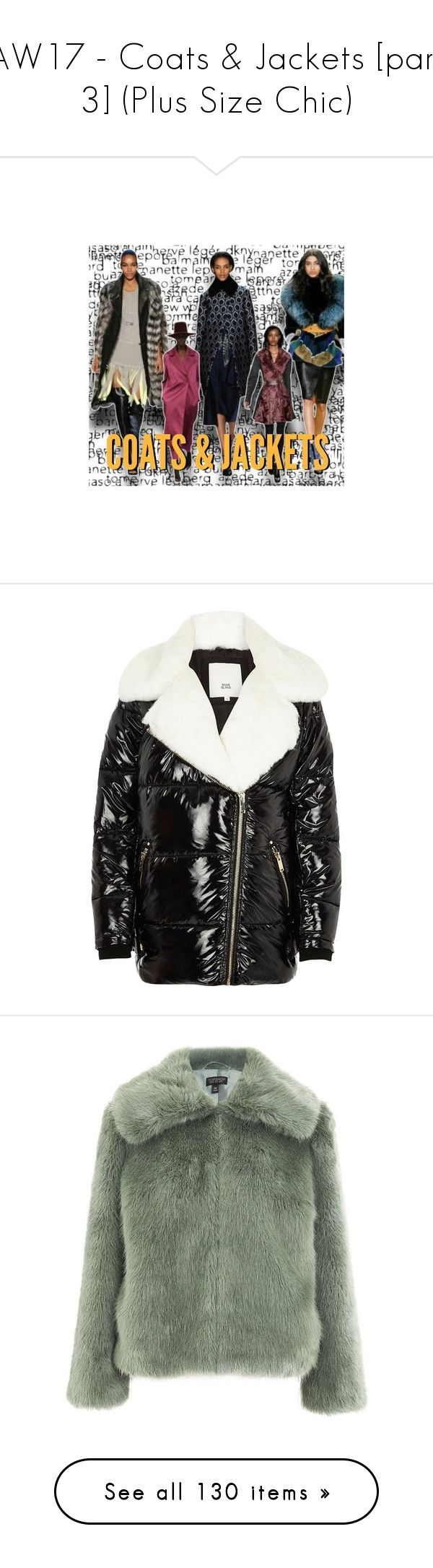"""""""AW17 - Coats & Jackets [part 3] (Plus Size Chic)"""" by foolsuk ❤ liked on Polyvore featuring outerwear, jackets, black, coats / jackets, women, aviator jacket, faux fur collar jacket, tall jackets, faux fur aviator jacket and faux fur jacket"""