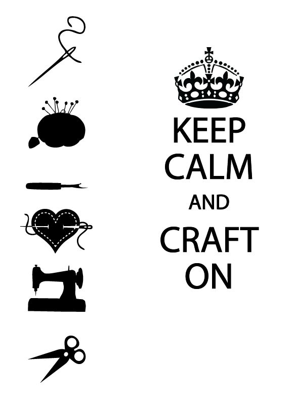 Crafty Jessica - Freebie Friday Keep Calm and Craft On - Free SVG
