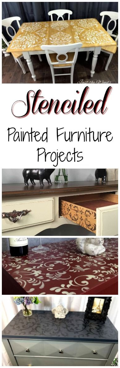 Painted furniture with a twist. Add a stencil for an amazing collection of stenciled painted furniture