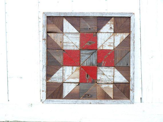 salvaged barn board wall decor geometric by IlluminativeHarvest
