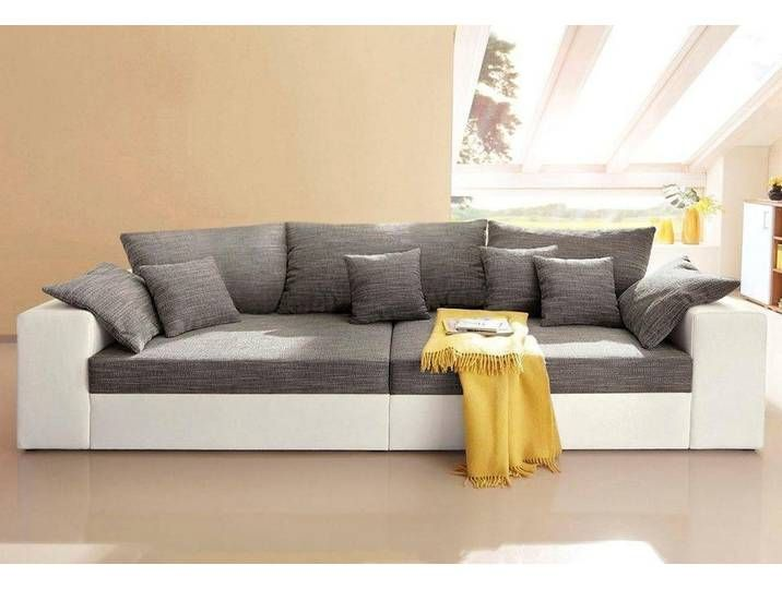 Nova Via Big Sofa Grau Ohne Bettfunktion Weiss Grau Big Sofas
