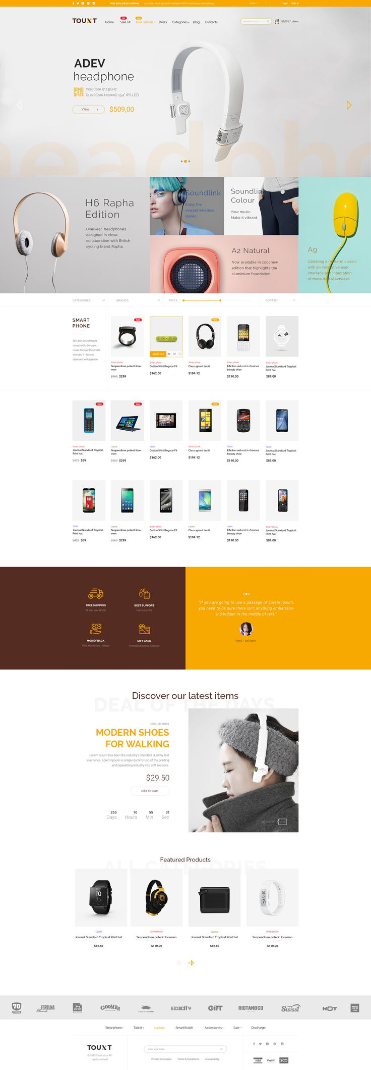 Touxt– Ecommerce PSD Template is a uniquely ecommerce website template designed in Photoshop with a modern look. PSD files are well organized and named accordingly so its very easy to customize and...