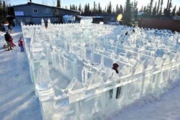 Ice maze at winter festival in Alaska.: A Maze, Ice Art, Art Championship, Puzzles Maze Labyrinths, Nice Shots, Castles, Art Urbano, Glorious Ice, Ice Maze