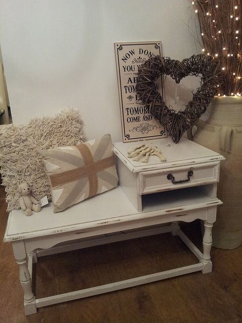 Shabby chic telephone table | Flickr - Photo Sharing!