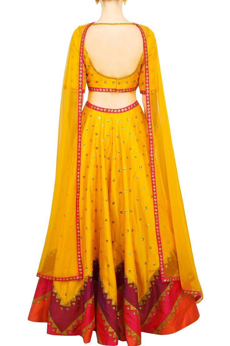 Reddish yellow colour dress