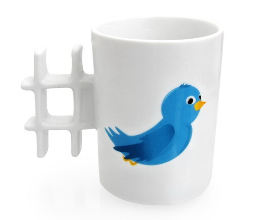 twitter mug: Cup, Geek, Twitter, Gift, Social Media, Hashtag, Coffee Mugs, Products