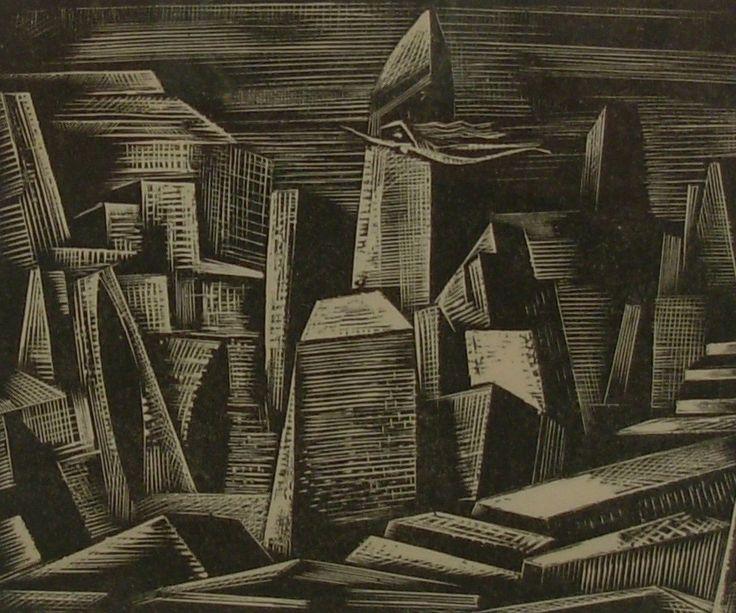 Paul Nash - At the bottom of the Rhine Twilight