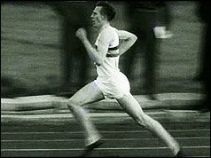 1954: Roger Bannister breaks four-minute mile. A 25-year-old British medical student, has become the first man to run a mile in less than four minutes. His time was 3 minutes 59.4 seconds, achieved at the Iffley Road track in Oxford.