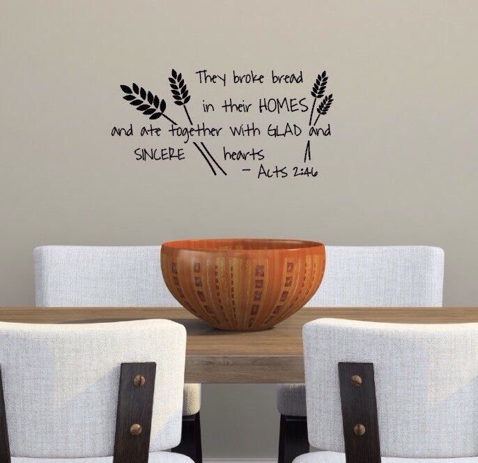 Dining Room Wall Decor Etsy : Top ideas about christian wall decals on
