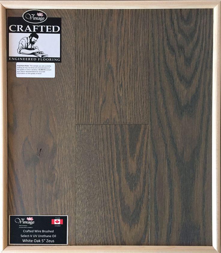 "Included Engineered Hardwood Flooring - White Oak 5"" Zeus"