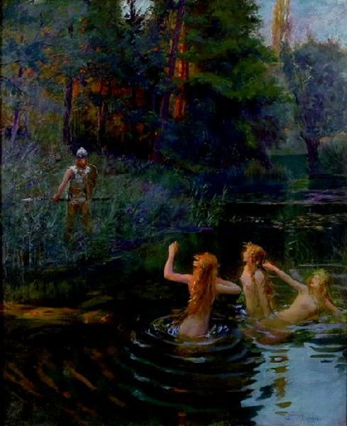 The Rhine Maidens By Gaston Bussiere