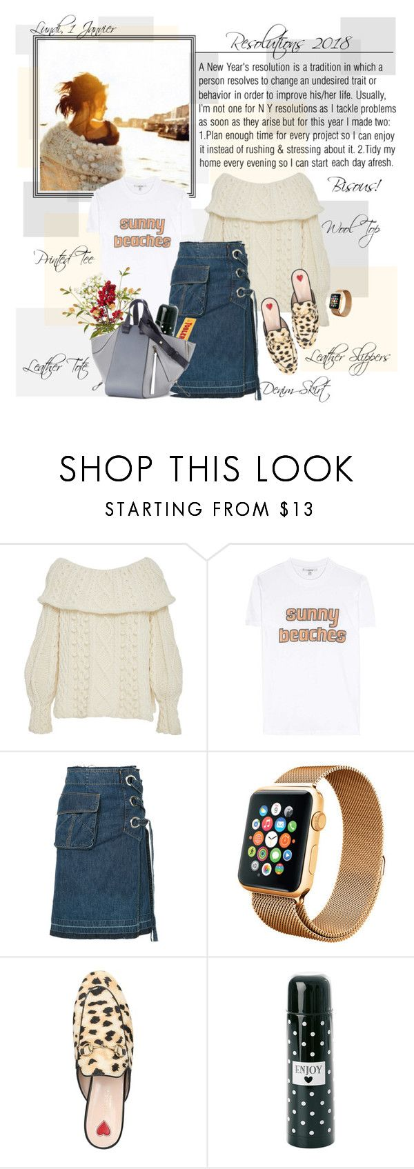 """""""Mon Style № 181 - 1 January, 2018"""" by mon-style-diary on Polyvore featuring Marisa Witkin, Ganni, Sacai, Gucci, Miss Étoile, Loewe, contestentry and polyPresents"""