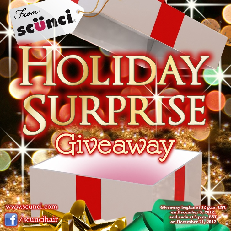scünci Holiday Surprise Giveaway #ScunciHairAccessories