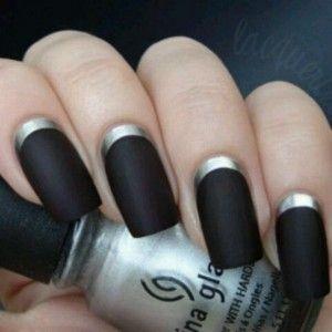 czarne paznokcie wzory
