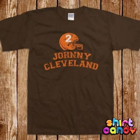 Youth 2015 New Cleveland  2 Johnny Manziel Stitched Orange Jersey