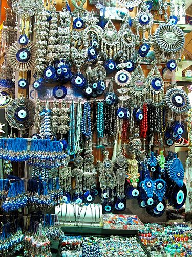 Turkish eyes, said to ward off evil, I have one hanging at my front door to ward of those who might wish to do me harm...