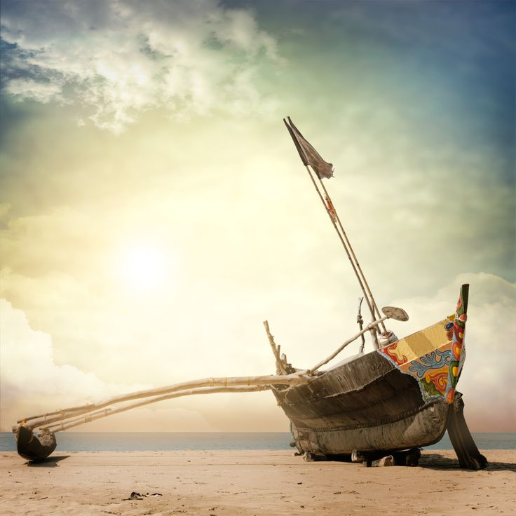 A wooden fishing boat ready to plunge into the Arabian Sea, Palolem Goa - #travel #goa #india #beaches qnatours@gmail.com