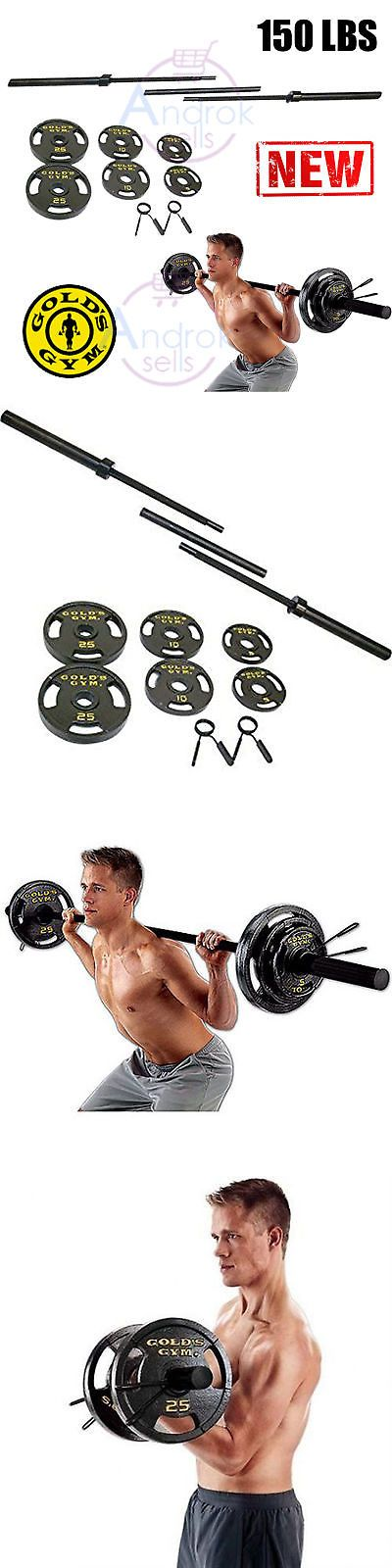 Barbells and Attachments 137864: Golds Gym Olympic Weight Set 110 Lb Plates Bar Workout Lifting Fitness Home New -> BUY IT NOW ONLY: $125.99 on eBay!
