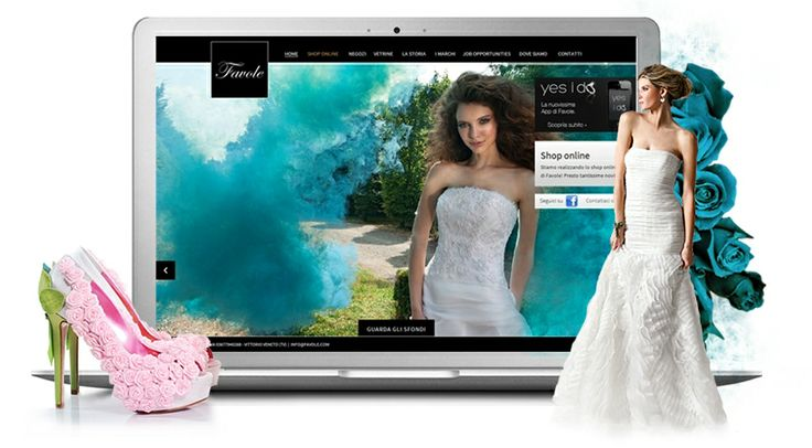 Favole.com Abiti da sposa e da cerimonia. E-commerce di scarpe da sposa e cerimonia.