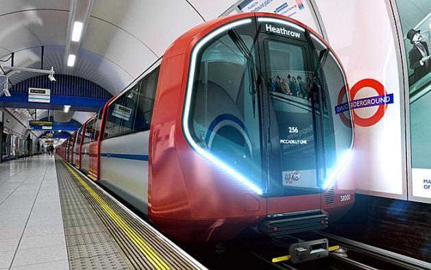 new metro trains in London -> gotta ride London's tube. i love trains!