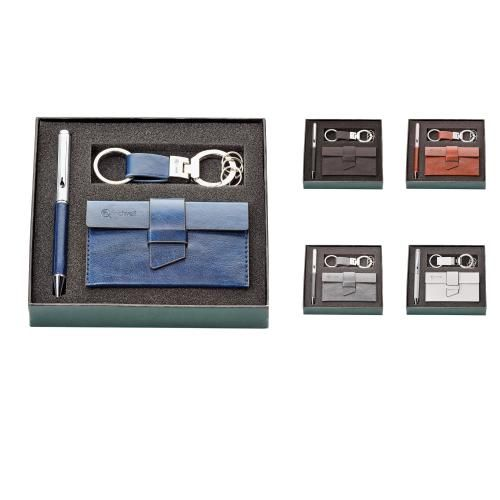 FABRIZIO pen, key ring & card holder gift set