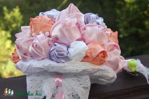 Romantikus esküvői rózsacsokor (katascreations) - Meska.hu