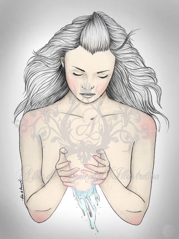 alba de armengol illustration water girl beauty