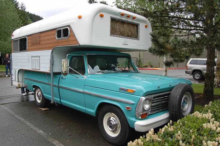 1968 Ford Pickup Truck With A Classic Chinook Camper Shell