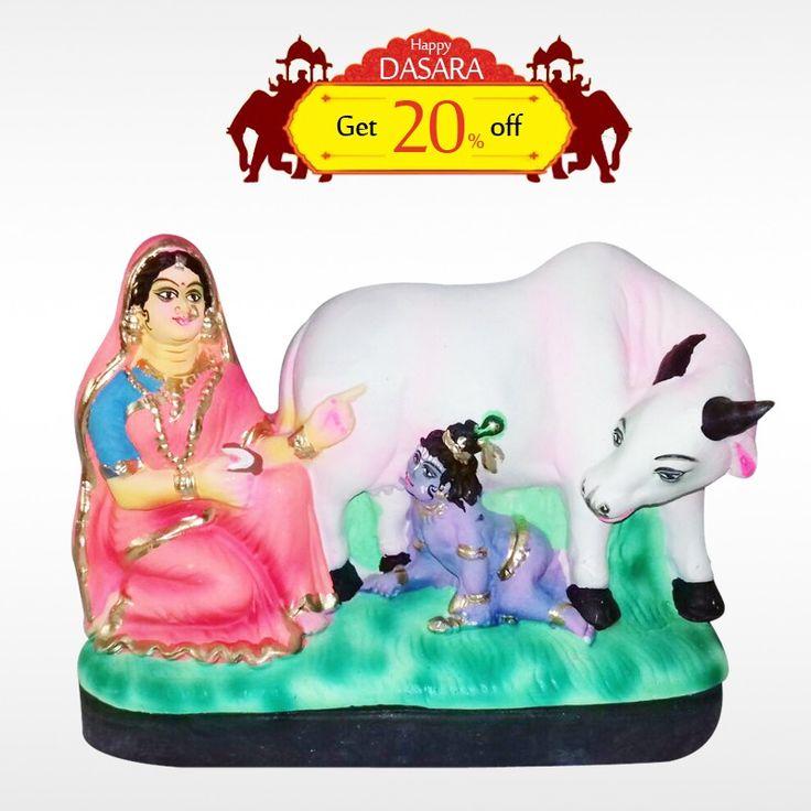 Buy authentic #YashodhaKrishna  and get 10% off on all #DasaraDolls . Make your #DasaraSet  more unique!  #BringHomeFestival