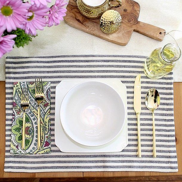Themed Linens: For nautical-themed soirees, striped linens (like these from HomeGoods) are the perfect fit.