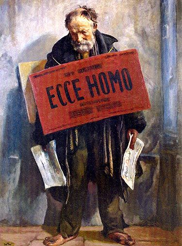 "pmikos:  Wojciech Weiss ""Ecce Homo"" - 1934 - #Art #LoveArt https://wp.me/p6qjkV-7TF"