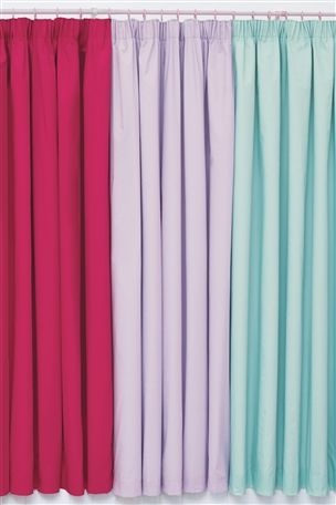 Teal Pencil Pleat Curtains