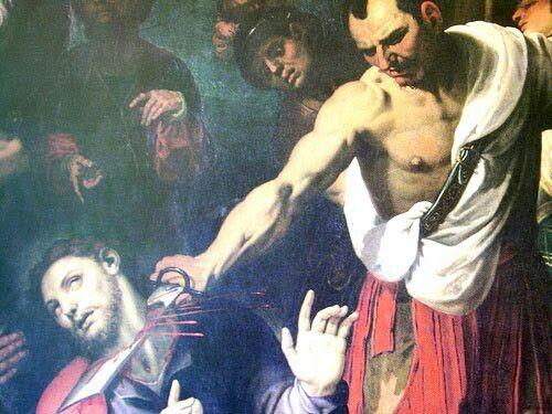 Muerte de Santiago Apostol llamado Santiago Apostol Mayor por orden de Herodes Rey.