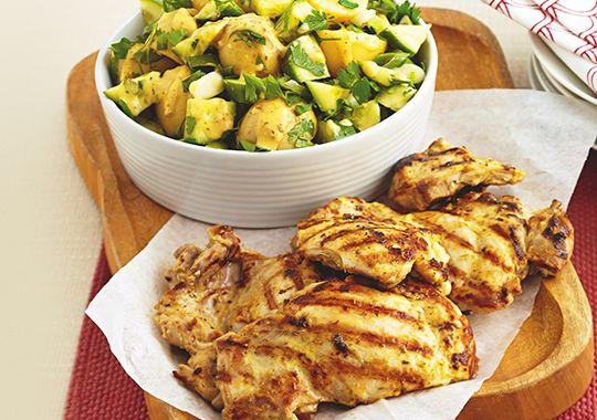 Lemon Chicken with Potato Salad