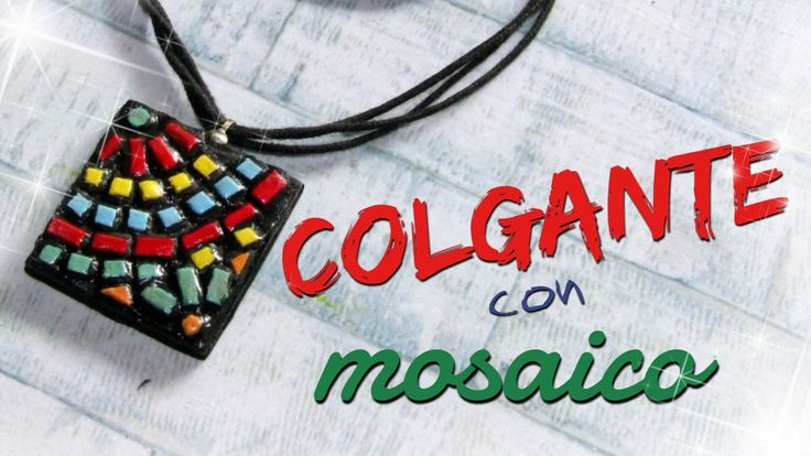 COLGANTE CON MOSAICO - paso a paso