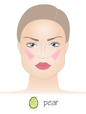 Blush Application for Pear-shaped Face