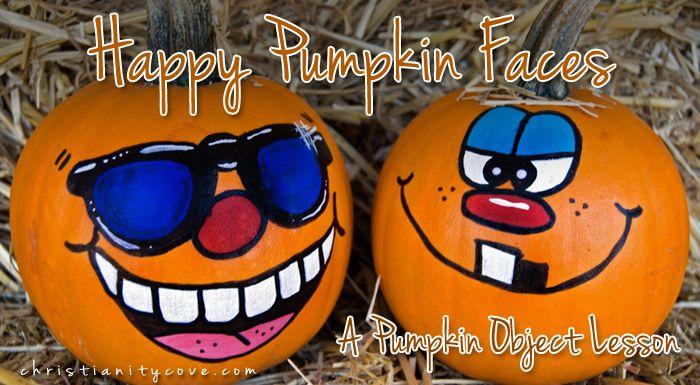 Happy Pumpkin Faces (