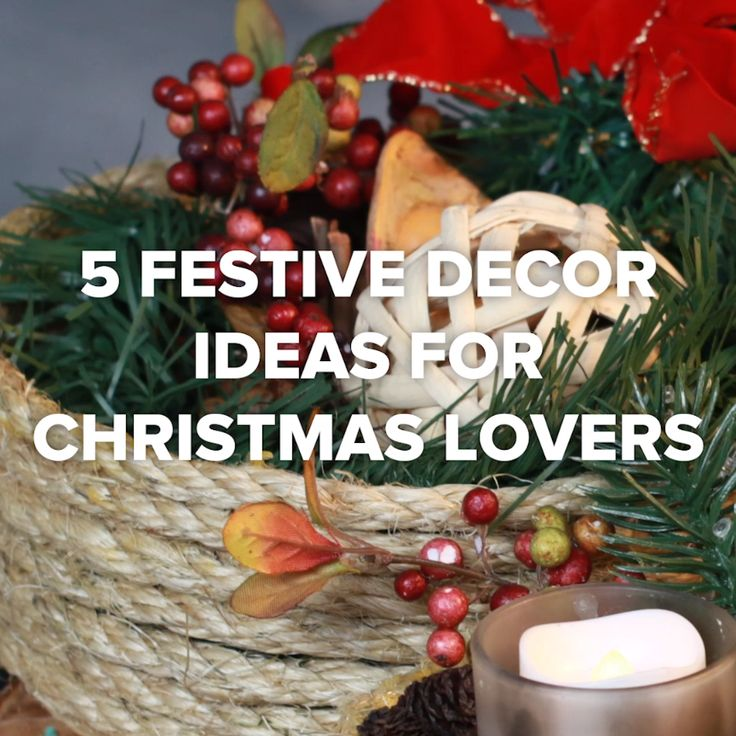 5 Festive Decor Ideas For Christmas Lovers // #diy #Christmas #decorations #holiday #Nifty