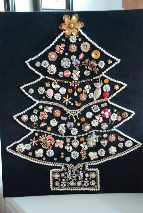 Something to make with costume jewelery inherited from moms or grandmas.  A nice way to display and remember them.