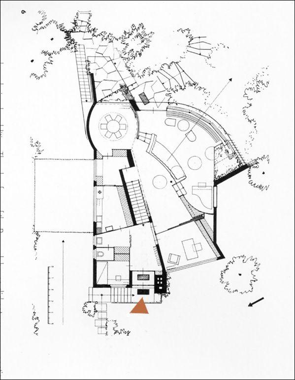Baensch House, Hans Scharoun, 1935, plan