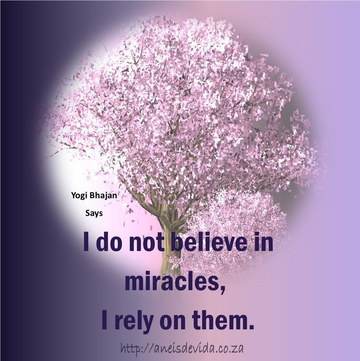 I do not believe in miracles, I rely on them. What about you?  http://aneisdevida.co.za