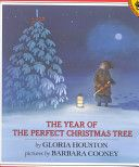 1988, THE YEAR OF THE PERFECT CHRISTMAS TREE, An Appalachian Story, by Gloria Houston, pictures by Babara Cooney.  A sweet story to be sure!