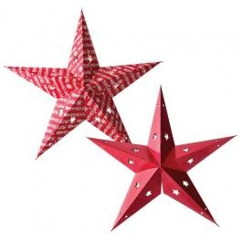 These paper stars are not only eco but a chic way to decorate your home this Christmas. Easy to reuse time and time again.                                                                                                                                                                                                %2