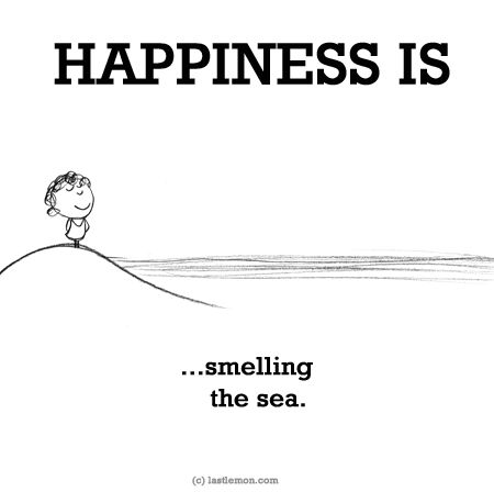 http://lastlemon.com/happiness/ha0188/ HAPPINESS IS...smelling the sea.